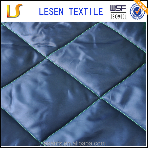 Lensen 100% polyester waterproof quilted fabric for garment