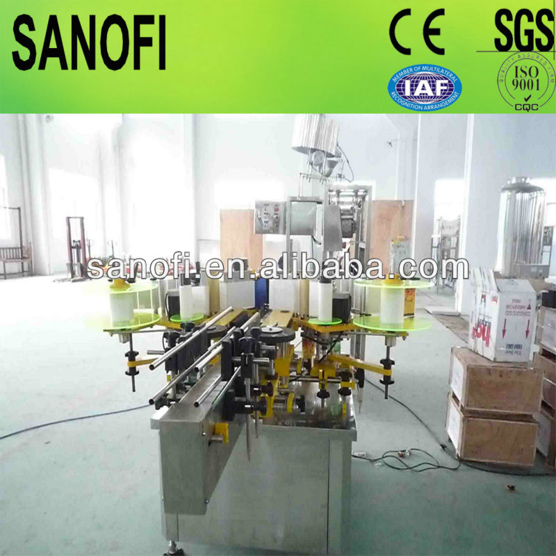 automatic double side sticker labelling machine for square round flat bottles