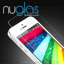 100% orginal nuglas tempered glass for mobile phone/color screen protector for iphone 4 4s 5 5s 6 plus
