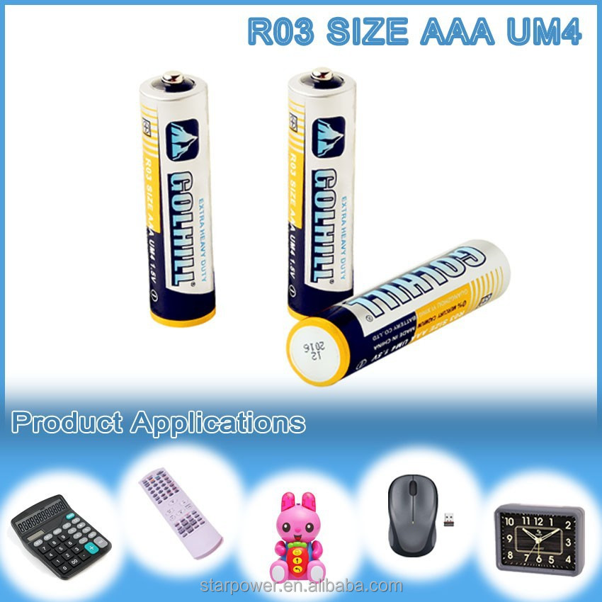 super heavy duty battery UM4 dry battery size aaa r03