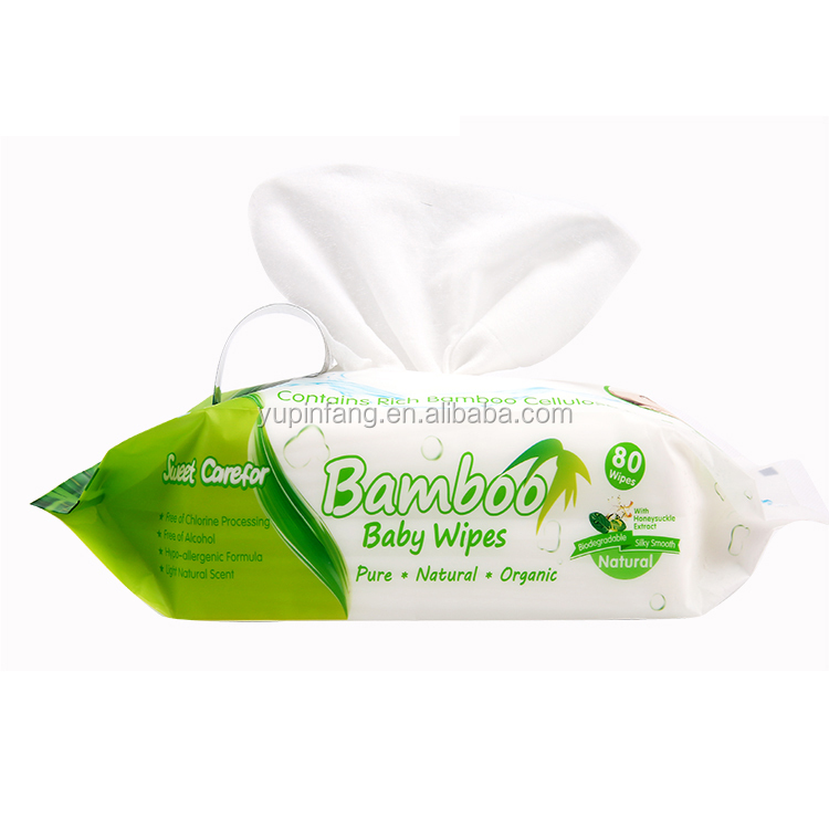 Hot selling Sweet carefor bamboo baby wipes