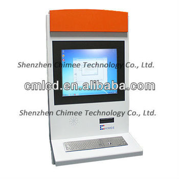 17 inch touch screen lcd ad monitor with keyboard