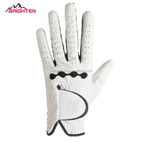 Custom white mens artificial leather golf gloves manufacturer