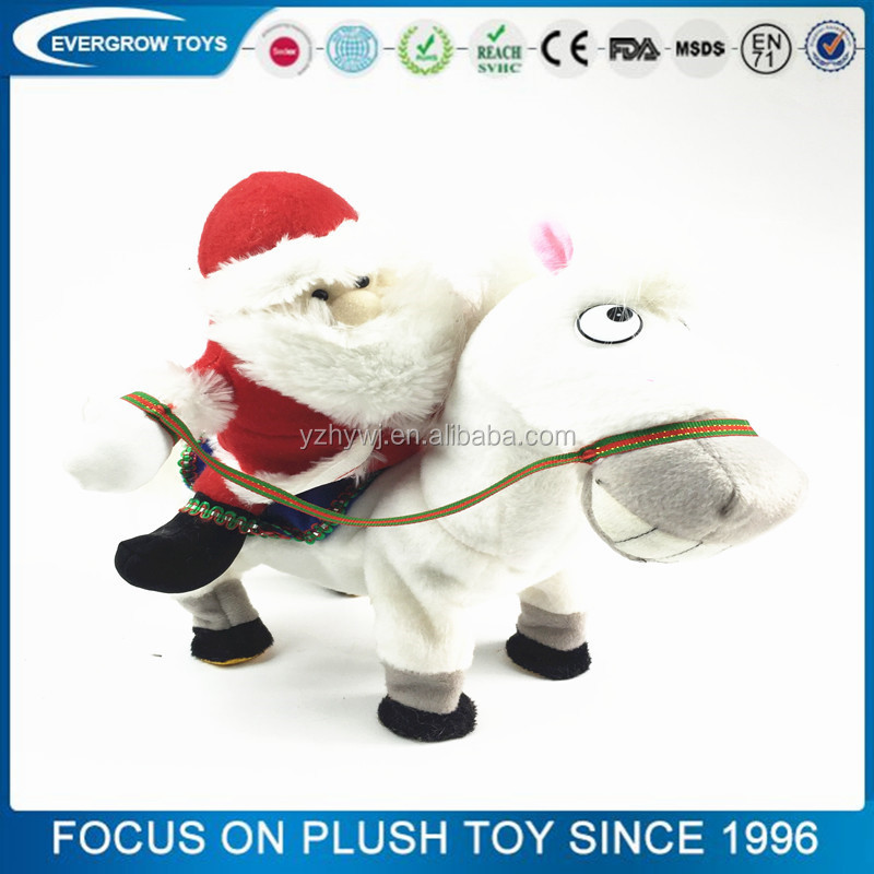 2016 Hot sale China electric horse Santa Claus christmas baby toy