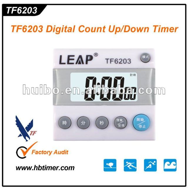 Digital Count up/down Timer for calculation by abacus