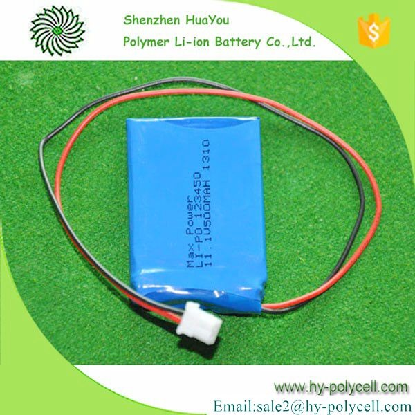High Quality 123450 11.1V 750mah Power Tool Lithium Battery Cell for MP4