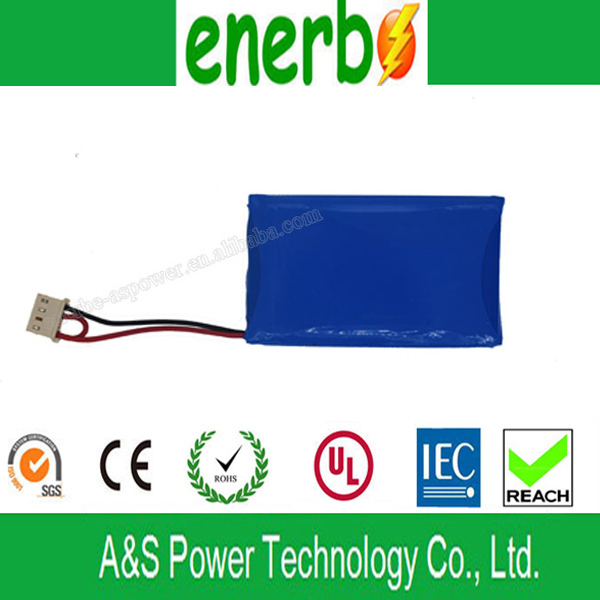 Rechargeable Ultra Thin Li Polymer Ion Battery 3.7V 2000mAh for Children Electronic Toy Car