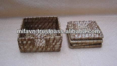 Handcrafted rattan coasters