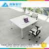 slim quadrate computer desk with top grade white color frame