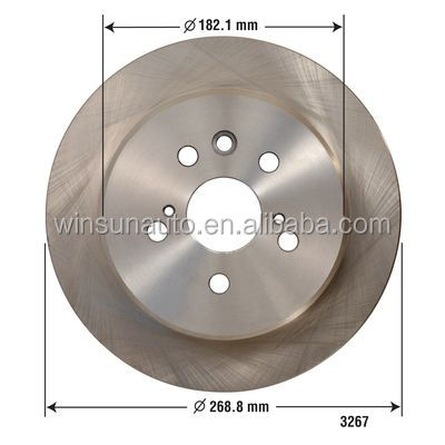 Camry/Celica Auto Parts Brake Disc Rotor 4243120090