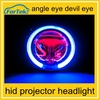 New Arrival devil eye projector headlight 35w high/low 360degree