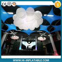 inflatable cloud decoration inflatable rainbow arch with logo