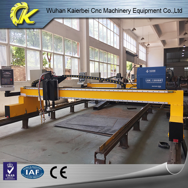 Big gantry customized size flame gas cutting machine to cut straight line metal