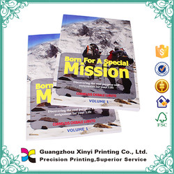2016 Low Lost perfect binding colorful customized definition of paper book