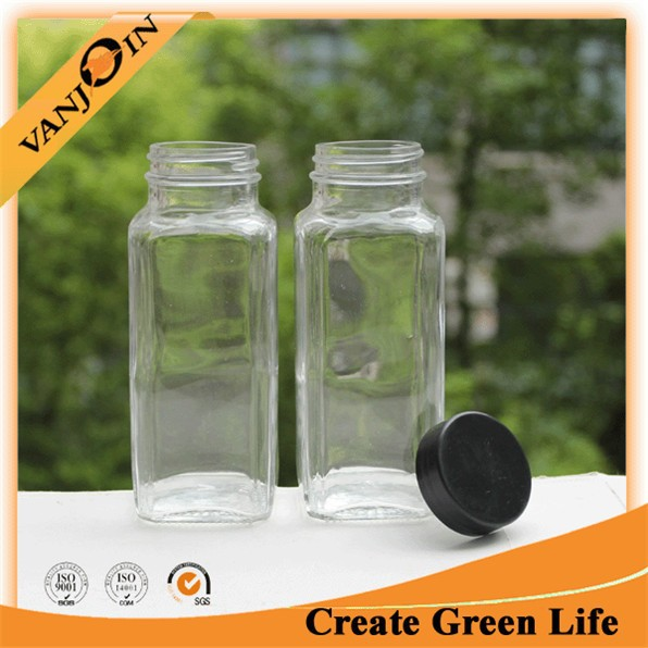Glass Bottles Wholesale Canada/ 8 oz French Square/ Clear Glass Bottle Square For Milk