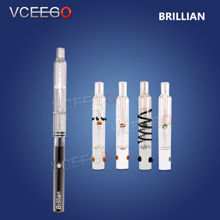 shenzhen VCEEGO dry herb vaporizer 510 vape starter kits vape pen vaporizer cartridge empty brillian for wax pen