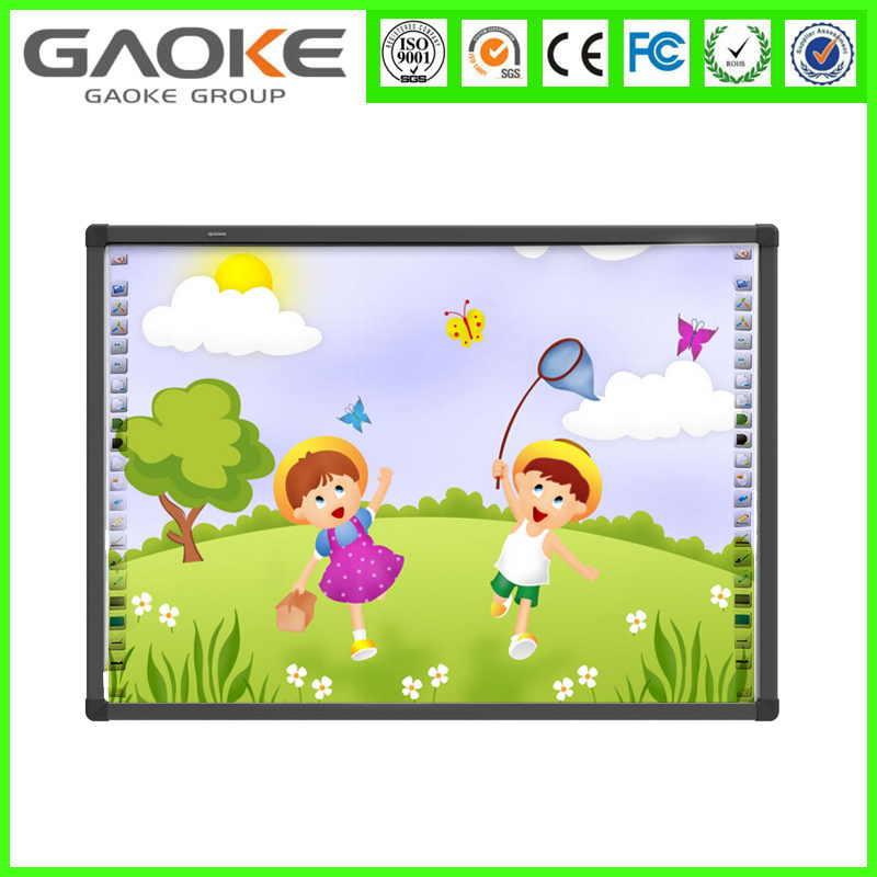 Black/grey touch screen board interactive whiteboard projector writing board for school
