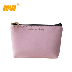 Women Small Cosmetic Bag PU Leather Travel Makeup Case Storage Pouch Organizer Make Up Cute Pencil Students bags