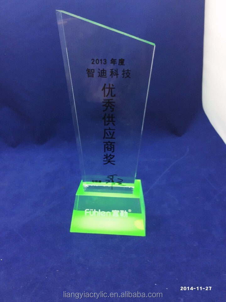 beautiful transparent acrylic award plaques factory Acrylic Medal Stands