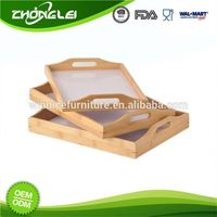 OEM High Standard SGS Bamboo Lap Trays For Sale