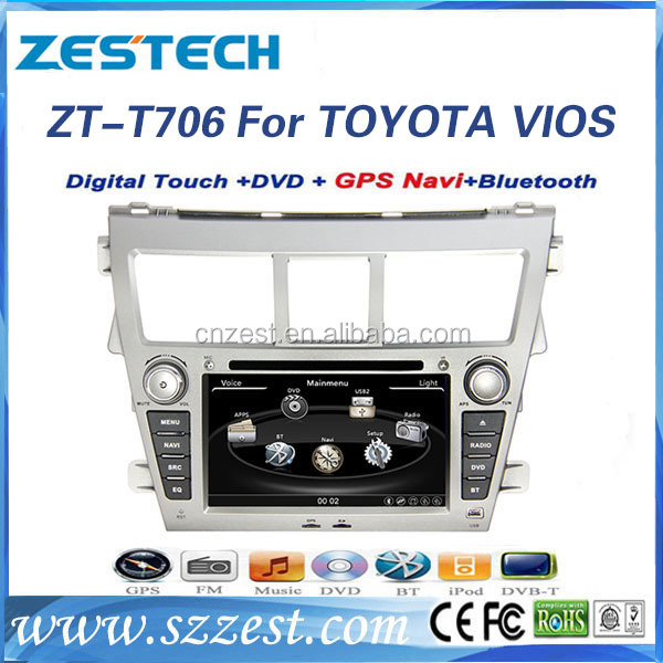 in dash car stereo for toyota vios 2007 -2012 car dvd player with gps navigation
