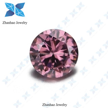 2017 new product cubic zirconia loose gems synthetic rhodolite round shape cz stone