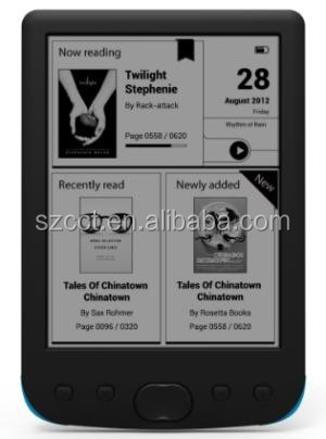 China Shenzhen factory hot selling 6' touch screen E-ink ebook readers cct-6031