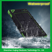 New Products 2016 Innovative Product Waterproof Solar Power Bank Dual USB 8000mah For Mobile Phone