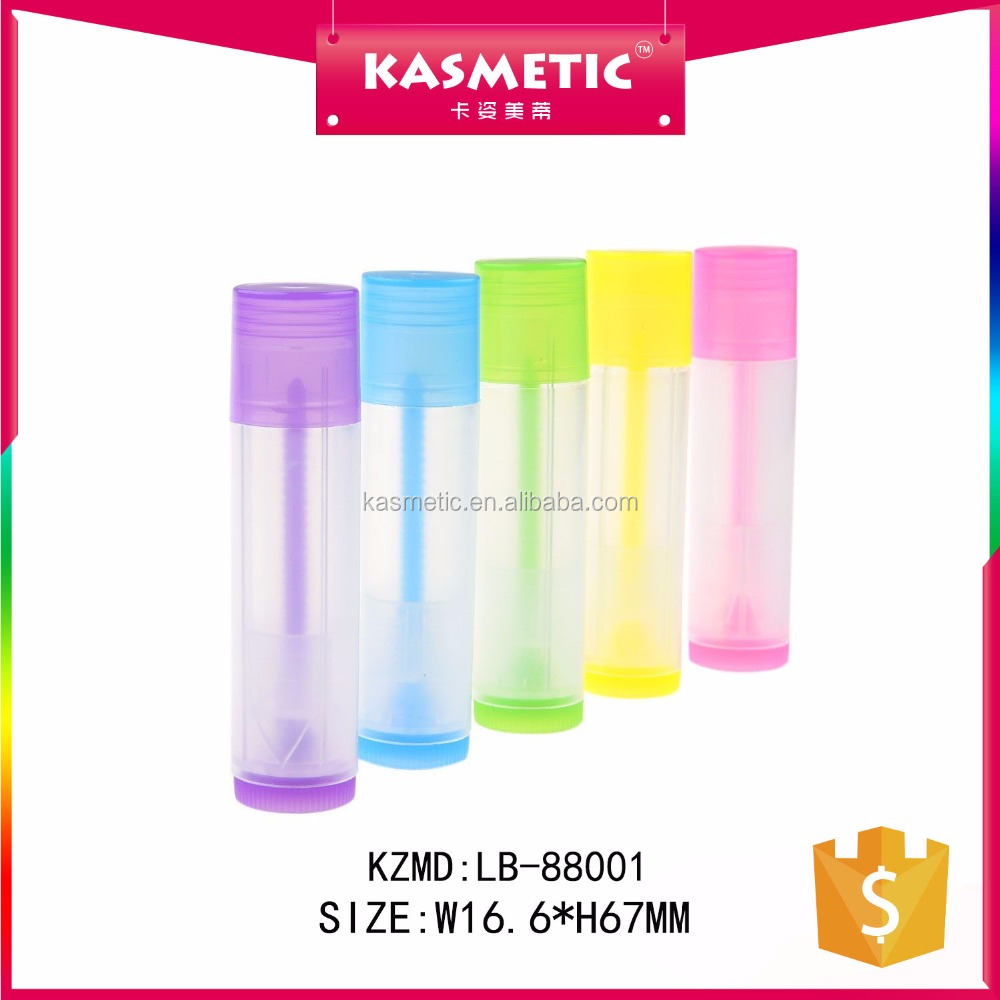 MOQ 100 pcs low price multi-color plastic wholesale empty lip balm <strong>tube</strong>