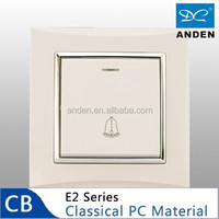 Classical PC Material White Color Electric Door Bell Switch