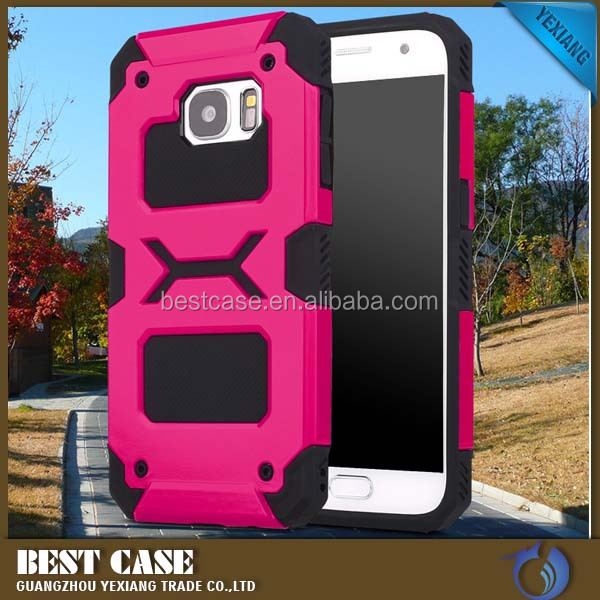 Hybrid Hard Rugged Heavy Duty armor shockproof phone case for samsung galaxy s7