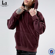 2016 new launched fashion style oversized velour pullover hoodie men customize