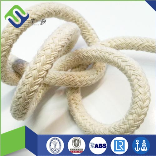 High quality 6mm soft braided cotton rope for knitting