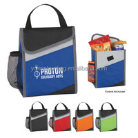 PEVA Lining Main Compartment With Velcro Flap Closure insulated cooler bag