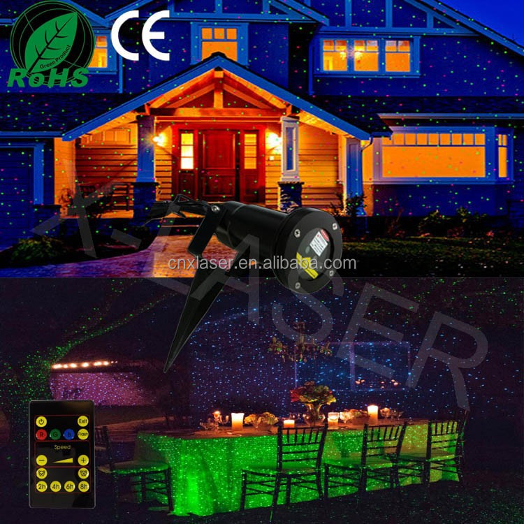 Christmas lights outdoor laser lamp of christmas decoration outdoor
