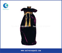 Make to order velvet wine bottle bag