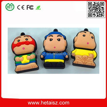 pvc cartoon character 128 gb usb flash drive 3.0, cute cartoon character usb 128gb