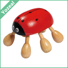 Wholesale natural best ladybird shaped wooden manual neck massager