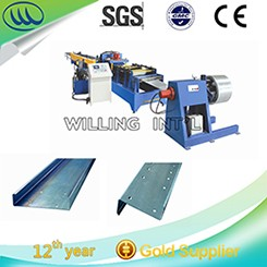 Hot sale with CE blue double layer roll forming machine