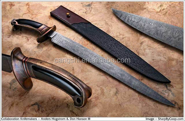 ikiv Damascus swords double sharp edge outdoor knife fixed blade kukri knife edc tool knife
