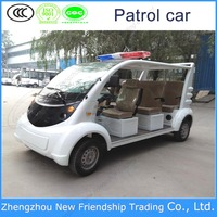 High quality 8 seats metal-clad electric patrol car in new cars/vehicles without doors for hot sale