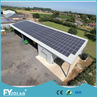 2KW on grid solar energy system with grid tied solar inverter without batteries