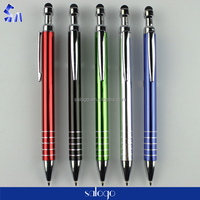 high quality heavy advertising touch metal ballpoint pen with logo printing