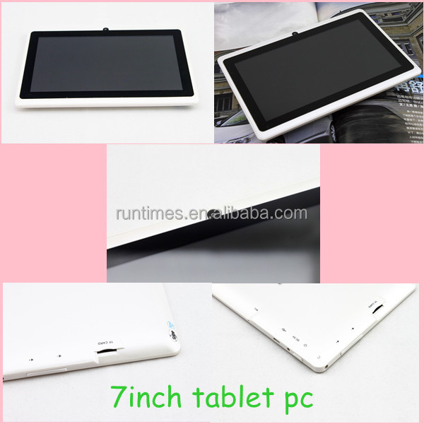 7inch tablet pc bulk buy from china 0.3*2.0MP 800*480 /1024*600 dual core 3G Phone Call tablet pc