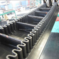 wave form raised edge sidewall block conveyer belt