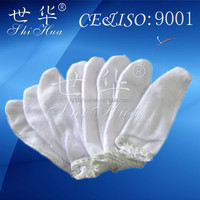 white cotton finger protection