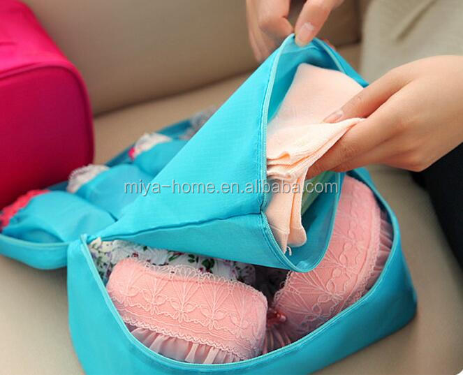 Wholsale travel underwear pouch / bra organizer / travel storage bag