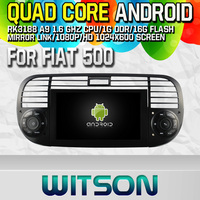 Witson S160 Android 4.4 Car DVD GPS For FIAT 500 with Quad Core Rockchip 3188 1080P 16g ROM WiFi 3G Internet Font DVR PIP