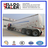 Tri-axle 45cbm bulk cement tank semi trailer