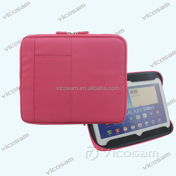 New products 2015 fashion tablet sleeve case 10 inch ,nylon+EVA shockproof tablet sleeve